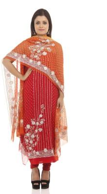 Chhabra 555 Crepe Embroidered Salwar Suit Dupatta Material