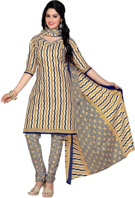 RK Style Cotton Striped Salwar Suit Dupatta Material