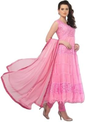 Murliwale Net Self Design Semi-stitched Salwar Suit Dupatta Material