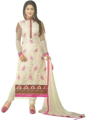 Pulin Cotton Polyester Blend Embroidered Salwar Suit Dupatta Material