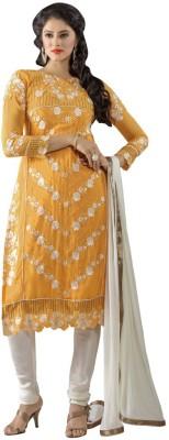 Shree Vardhman Georgette Self Design Semi-stitched Salwar Suit Dupatta Material