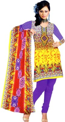 Grahcjows Creations Cotton Printed Salwar Suit Dupatta Material