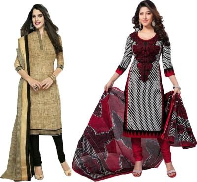 ALKNANDA Cotton Printed Salwar Suit Dupatta Material
