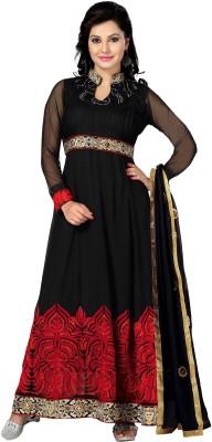 Vastrakosh Chiffon Embroidered Semi-stitched Salwar Suit Dupatta Material