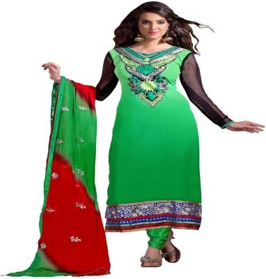 Fabiola Trendz Chanderi Embroidered Salwar Suit Dupatta Material