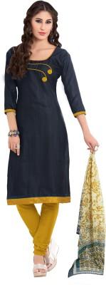 Khoobee Cotton Polyester Blend Self Design Salwar Suit Dupatta Material