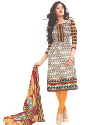 Amin Cotton Polyester Blend, Chiffon Printed Salwar Suit Dupatta Material