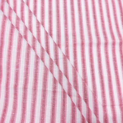 Fashion Foreplus Cotton Polyester Blend Striped Shirt Fabric