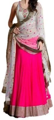 Shreet Fashion Georgette Self Design Lehenga Choli Material