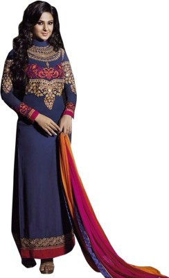Rozdeal Georgette Embroidered Salwar Suit Dupatta Material