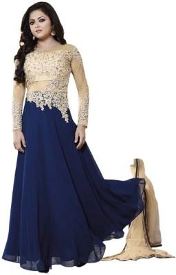 Sanchey Georgette Embroidered Semi-stitched Salwar Suit Dupatta Material, Salwar Suit Dupatta Material