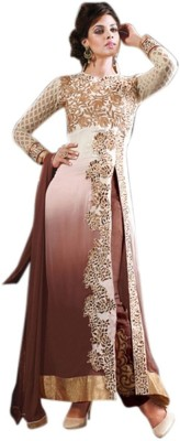 Style Amaze Georgette Embroidered, Self Design Semi-stitched Salwar Suit Dupatta Material