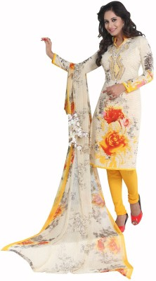 Varsha Collection Synthetic Printed Salwar Suit Material(Un-stitched)