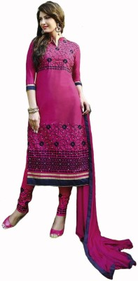 Fashion & Trends Cotton Embroidered Semi-stitched Salwar Suit Dupatta Material