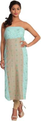 Kasturi-B Swadeshi Karigari Cotton Embroidered Kurta & Palazzo Material