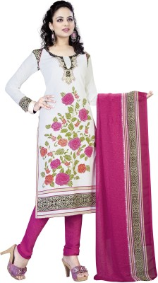 varshsa Synthetic Printed Salwar Suit Dupatta Material