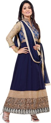Li Te Ra Georgette Embroidered Semi-stitched Salwar Suit Dupatta Material