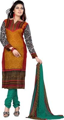 Variation Crepe Printed Salwar Suit Dupatta Material