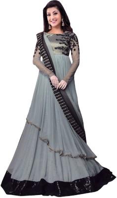 Jahnvi Georgette Embroidered Semi-stitched Salwar Suit Dupatta Material