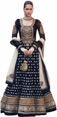 Shreeji Fashion Georgette Embroidered Semi-stitched Salwar Suit Dupatta Material