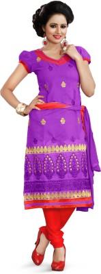 Lunawat Synthetics Chanderi Embroidered Salwar Suit Dupatta Material