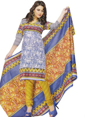 Unstitched Dress Material Cotton Self Design Salwar Suit Dupatta Material(Un-stitched)
