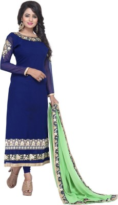 fashion ritmo Georgette Embroidered Salwar Suit Dupatta Material