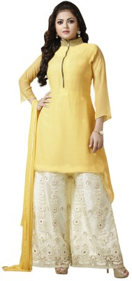 Lakshya Export Georgette Embroidered Salwar Suit Dupatta Material