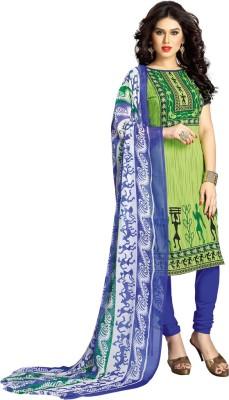 Parishi Fashion Georgette Floral Print Dress/Top Material
