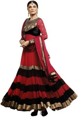 Hari Krishna Enterprise Georgette Self Design Semi-stitched Salwar Suit Dupatta Material