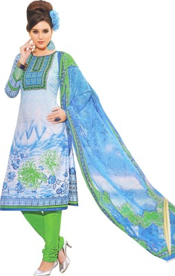 Charu Boutique Cotton Silk Blend Printed Salwar Suit Dupatta Material
