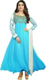StyleFunia Georgette Embroidered Salwar ...