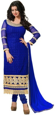 ColorsInc. Georgette Embroidered Salwar Suit Dupatta Material