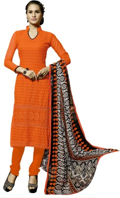 Khushali Georgette Self Design, Embroidered Salwar Suit Dupatta Material
