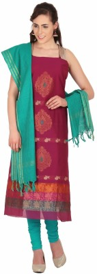 Platinaa Jacquard Floral Print Salwar Suit Dupatta Material