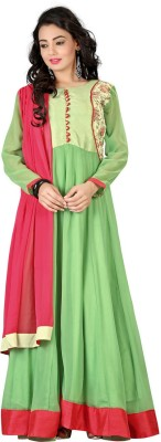 TheEmpire Georgette Solid Semi-stitched Salwar Suit Dupatta Material