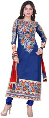 Aravfashion Georgette Embroidered Semi-stitched Salwar Suit Dupatta Material