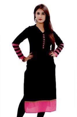 Henna Trendz Cotton Solid Kurti Fabric