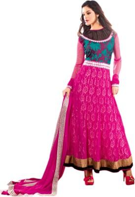 Vishal Net Self Design Salwar Suit Dupatta Material