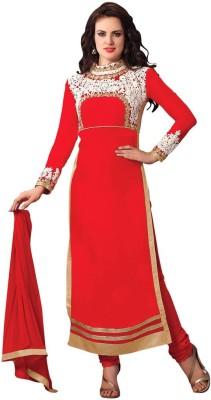 Aasvaa Cotton Embroidered Semi-stitched Salwar Suit Dupatta Material at flipkart