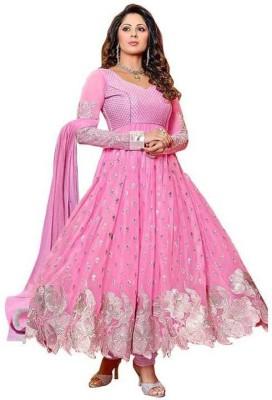 Vinayak Creation Georgette Embroidered, Self Design Salwar Suit Material