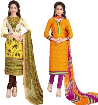 Sonal Dress Crepe Printed Salwar Suit Dupatta Material, Salwar Suit Material