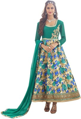Eleven Creation Synthetic Printed Salwar Suit Dupatta Material