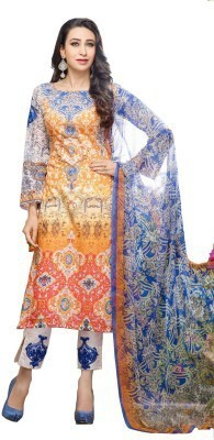 Meera Cotton Embroidered Salwar Suit Dupatta Material