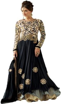 Fashionsurat Georgette Embroidered Semi-stitched Salwar Suit Dupatta Material