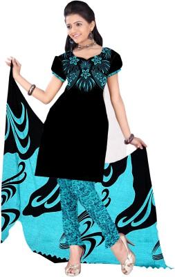 Aasvaa Crepe Printed Salwar Suit Dupatta Material