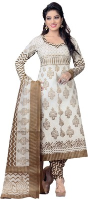Godavari Fashion Hub Cotton Printed Semi-stitched Salwar Suit Dupatta Material
