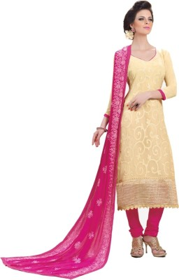 Nilkanth Communication Chiffon Embroidered Salwar Suit Dupatta Material