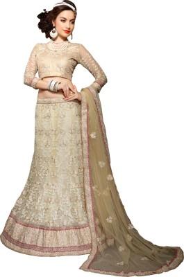 Jiya Net Self Design, Embroidered, Embellished Semi-stitched Lehenga Choli Material