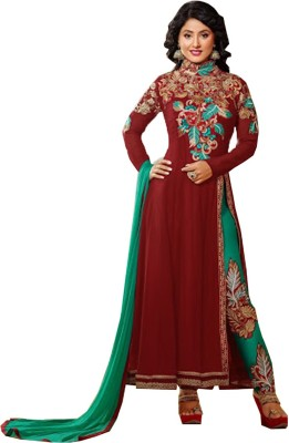Aariyas Georgette Embroidered Salwar Suit Dupatta Material
